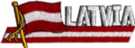 Latvia Embroidered Flag Patch, style 01.